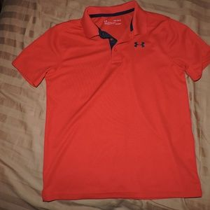 Boys Under Armour Golf Shirt Polo Youth Large